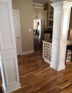 These floors look new after restoration by Paul Davis.