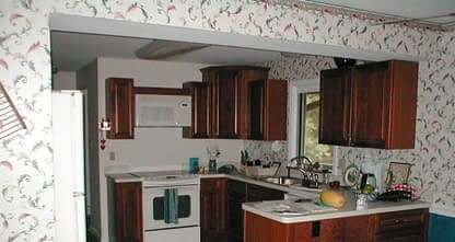 restored kitchen after fire damage