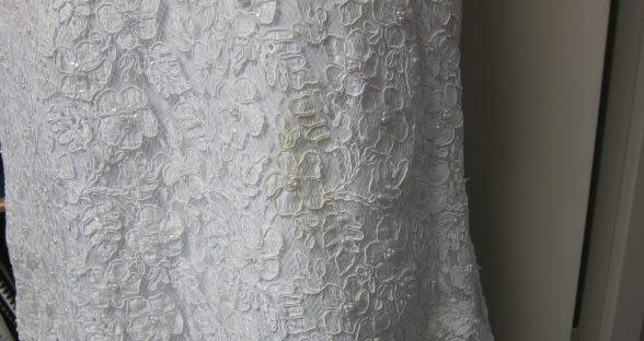 Wedding dress close up before