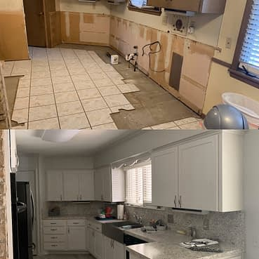 Kitchen before and after remodeling